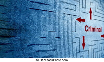 Criminal maze concept