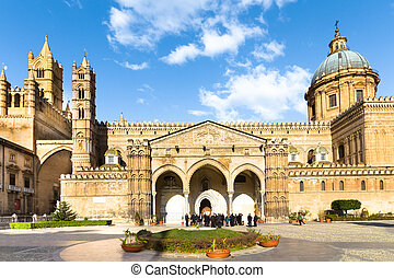 The Cathedral of Palermo, Italy. - Palermo Cathedral is the...