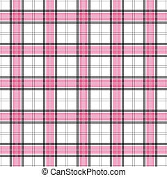 Pink and Black Plaid Seamless Background Pattern