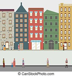 Buildings In The City Vector Illustration