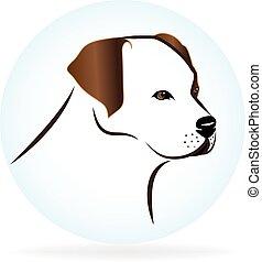 Golden retriever dog portrait logo - Golden retriever dog...