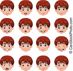 Little boy various face expressions