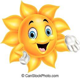 Cartoon sun character - Vector illustration of Cartoon sun...