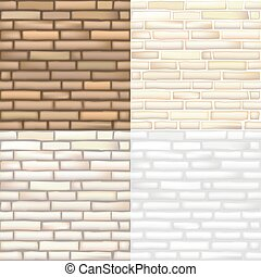 Set of vector brick textures