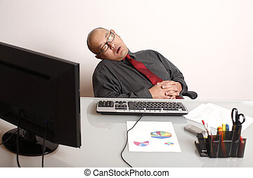 Sleeping employee