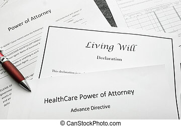 Legal and estate planning - Power of Attorney, Living Will,...