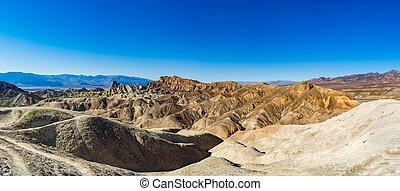 Death Valley - Eroded Mountain Ridges, Death Valley National...