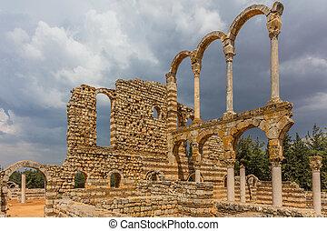 Ruins of the Umayyad Aanjar Anjar Beeka Lebanon - Ruins of...