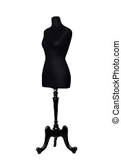 A black mannequin - Photo of black mannequin isolated on a...