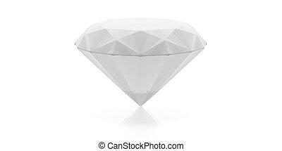 Diamond isolated on white. 3d illustration