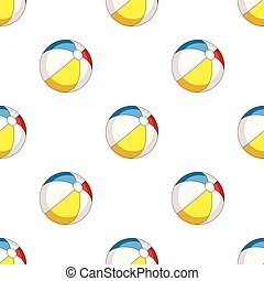 Inable multicolored ball.Summer rest single icon in cartoon...