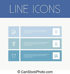 Set Of 6 Editable Cleanup Outline Icons. Includes Symbols...