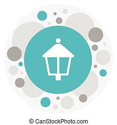 Vector Illustration Of Agriculture Symbol On Lamp Icon. Premium Quality Isolated Streetlight Element In Trendy Flat Style.