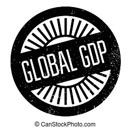 Global Gdp rubber stamp. Grunge design with dust scratches....
