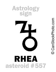 Astrology: asteroid RHEA - Astrology Alphabet: RHEA,...