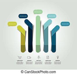 Arrow infographic scheme, flowchart, template, chart. Vector.