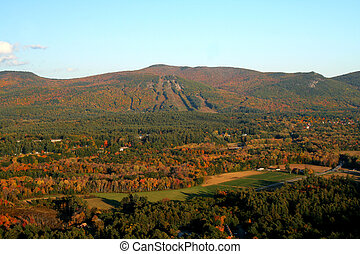 White Mountains New Hampshire - Autumn view in the White...