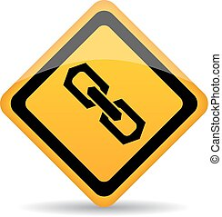 Chain link vector sign