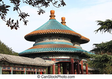 Double-Circle Longevity Pavilion in Tiantan Park in BeiJing...