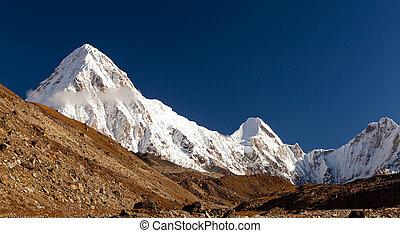 Pumo Ri Himalaya Mountain peak in Nepal