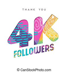 4k social media follower number thank you template - 4000...