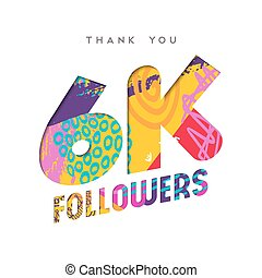 6k social media follower number thank you template - 6000...