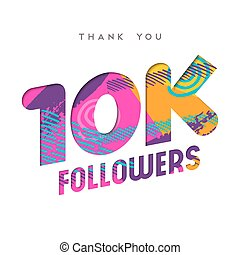 10k internet follower number thank you template - 10000...