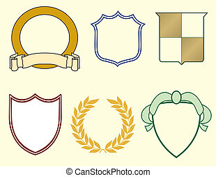 Shields and Laurels for Logos - Six Items for Logos