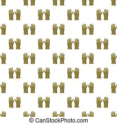 Khaki colored gloves pattern seamless repeat in cartoon...