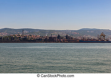 View of cast iron industry in Trieste