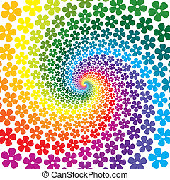 Colorful Flower Spiral Background