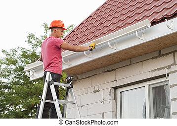 Installation of gutter system