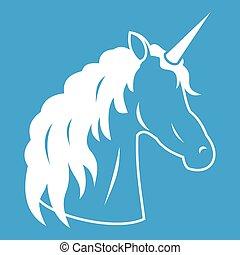 Unicorn icon white