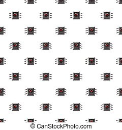 Microchip pattern seamless repeat in cartoon style vector...