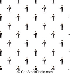 Chauffeur pattern seamless repeat in cartoon style vector...
