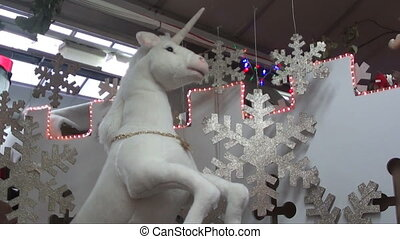christmas unicorn display