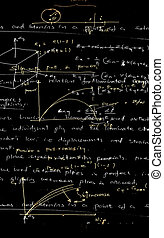 Mathematics background - Close up of Mathematics background...