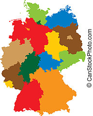 States of Germany - Germany divided into 16 states