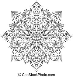 Ornamental abstract mandala. - Filigree vector mandala....