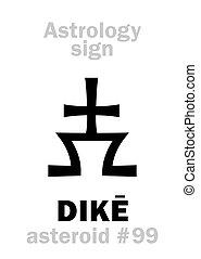 Astrology: asteroid DIK? - Astrology Alphabet: DIK?,...