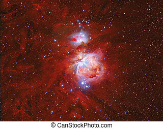 Orion Nebula - imaged with a telescope and a scientific CCD...