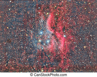 Propeller Nebula DWB 111 - imaged with a telescope and a...