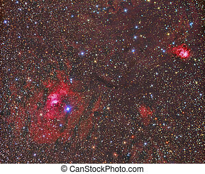 Bubble Nebula - imaged with a telescope and a scientific CCD...