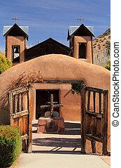 El Santuario de Chimayo along the High Road to Taos in...