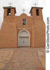San Francisco de Asis Catholic Church in historic Ranchos de...
