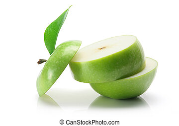 Granny Smith Apple on White Background