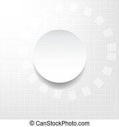 white and silver abstract technology vector background -...