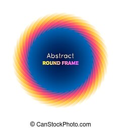 Abstract round frame gradient