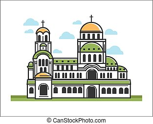 Green Christian church