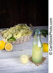 Syrup from nigra sambucus. - Fresh syrup from nigra sambucus...